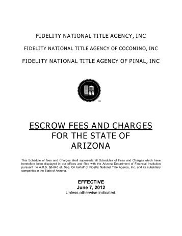 Fidelity National Title Agency Inc. - Arizona Department of Financial ...