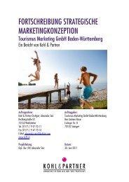 Strategische Marketingkonzeption der TMBW - B2B - Baden ...
