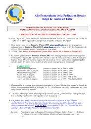 reglement 2012-2013 - Comité provincial du Brabant Wallon