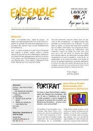 Télécharger le bulletin d'information - Institution de Lavigny