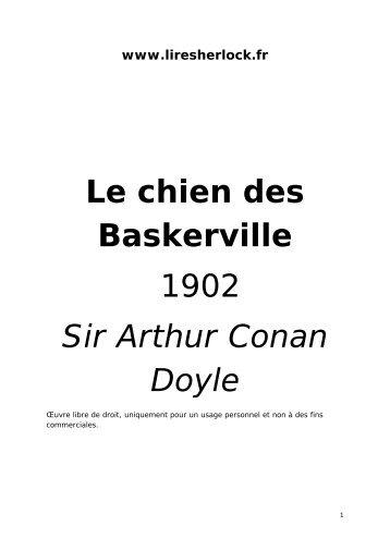 Le chien des Baskerville 1902 Sir Arthur Conan Doyle - Lire Sherlock