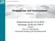 Finanzkrise Und Verbraucher - Geldgesellschaft Verbraucherschutz