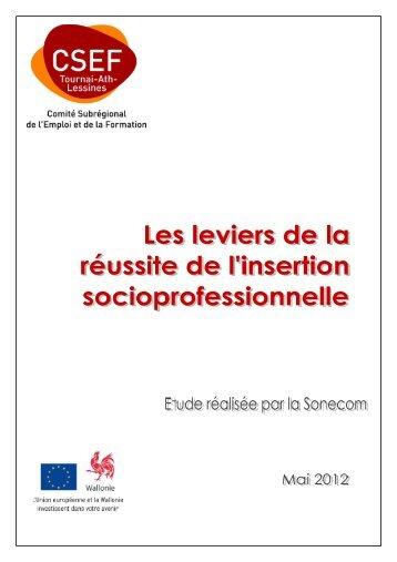 Télécharger l'étude - mai 2012 - CSEF Tournai-Ath-Lessines