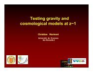 Testing gravity and cosmological models at z~1