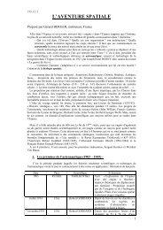 L'AVENTURE SPATIALE - Esa