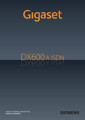 Gigaset DX600A isdn - Bedienungsanleitungen