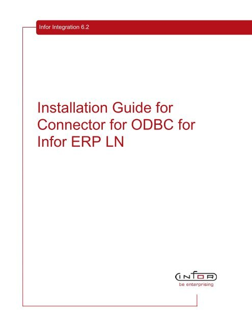 Installation Guide for Connector for ODBC for Infor ERP LN