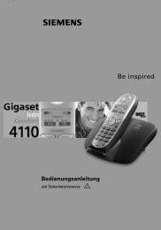 Siemens Gigaset 4110isdn.pdf - Wasser.de