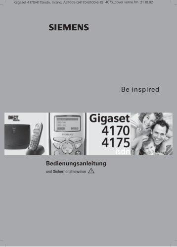 Be inspired - Bedienungsanleitungen