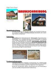 BAUBESCHREIBUNG - Bachl