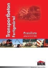 Preisliste - Karl Bachl GmbH & Co KG
