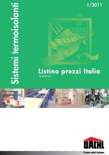 Listino prezzi 2011