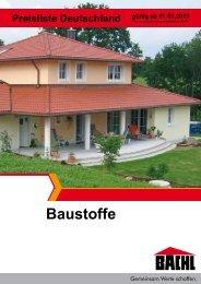 Baustoff Preisliste - Karl Bachl GmbH & Co KG
