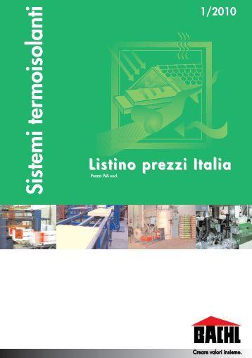 Listino Prezzi Italia - Bachl