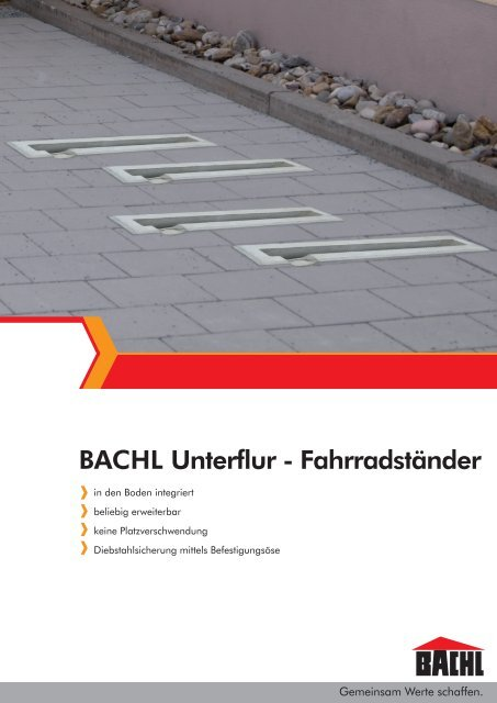 Bachl Unterflur Fahrradständer Karl Bachl Gmbh Co Kg