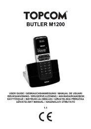 8 Rekisteröinti Topcom Butler M1200 - Bedienungsanleitungen