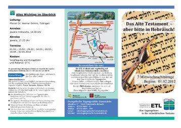 Das Alte Testament - aber bitte in Hebräisch!