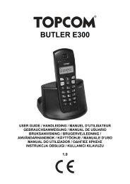 8 Rekisteröinti Topcom Butler E300