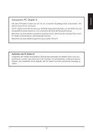Swisscom PC-Dialer II - Bedienungsanleitungen
