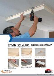 BACHL PUR Decken - Dämmelemente MV - Karl Bachl GmbH & Co ...