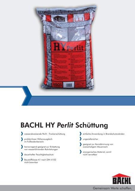Bachl Hy Perlit Schüttung Karl Bachl Gmbh Co Kg