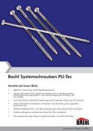 Bachl Systemschrauben PU-Tec - Karl Bachl GmbH & Co KG