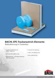 BACHL EPS Trockenestrich-Elemente - Karl Bachl GmbH & Co KG