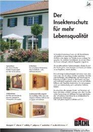 lnsektenschutz tiir mehr Lebensqualität - Karl Bachl GmbH & Co KG