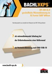 XPS 300 XL-R geschoßhohe Wärmedämmung im XL Format ... - Bachl