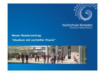 "Neuer Mustervertrag ""Studium mit vertiefter Praxis"" - Hochschule dual"