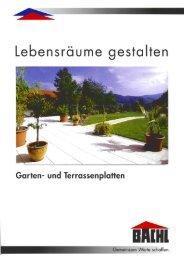 Garten- und Terrassenplaflen - Karl Bachl GmbH & Co KG