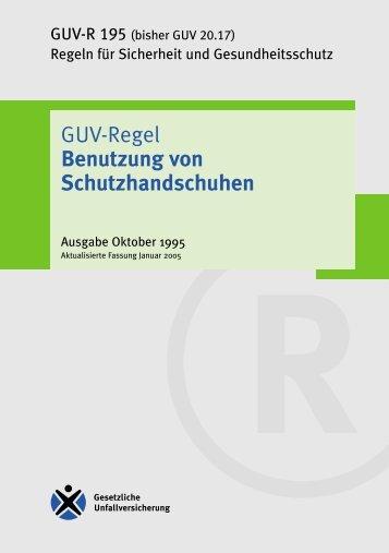 """GUV-Regel """"Benutzung von Schutzhandschuhen"""" - Arbeits- und ..."""