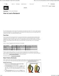 REI Guide - Backpacking 101