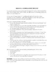 Handout - Backpacking 101