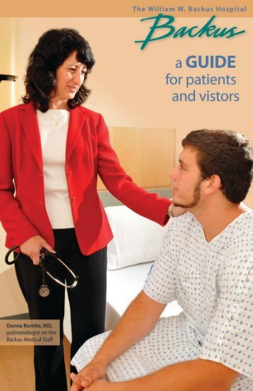 patient guide - The William W. Backus Hospital