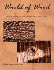 2012 the year of collecting - International Wood Collectors Society