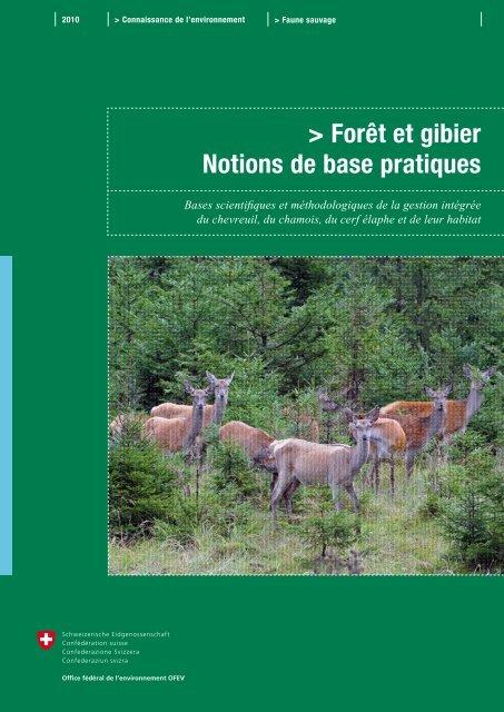 foto de Forêt et gibier – Notions de base pratiques - Bafu - CH