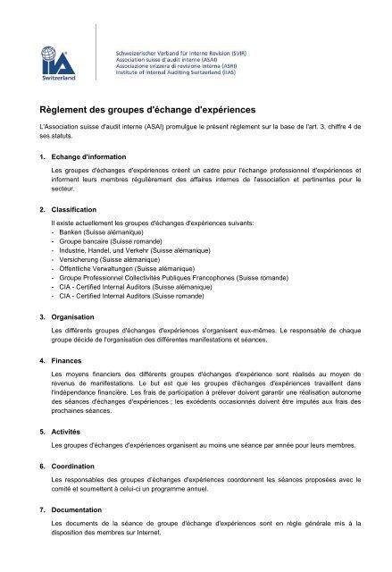 d8fd38bfeec Reglement der ERFA-Gruppen - SVIR