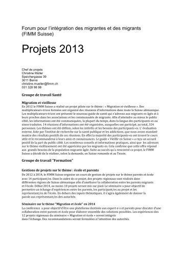 plan de projets. - Forum pour l'intégration des Migrantes et des ...