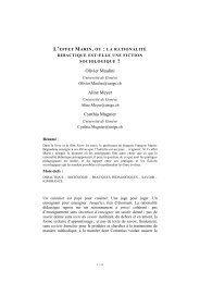Texte intégral de la contribution d'Olivier Maulini, d'Aline Meyer et de ...