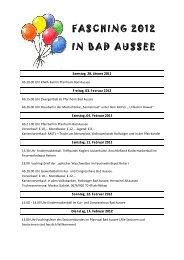 FASCHING 2 IN BAD AUS 2012 SSEE - Bad Aussee