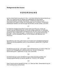 Hundekotverordnung - .PDF - Bad Aussee