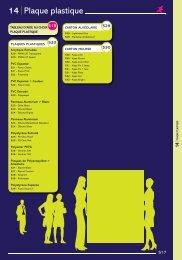 14 Plaque plastique - Easy catalogue