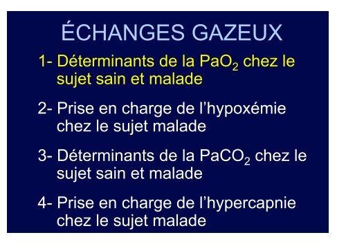 ÉCHANGES GAZEUX
