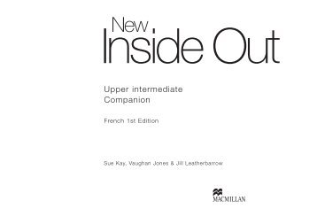 Upper intermediate Companion - Inside Out