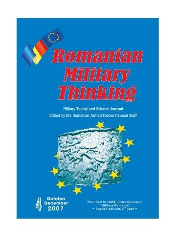 Romanian Military Thinking