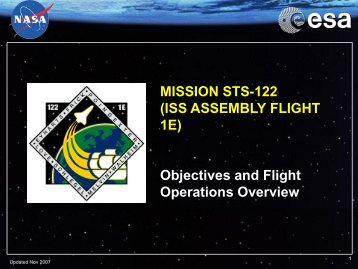 MISSION STS-122 (ISS ASSEMBLY FLIGHT 1E) Objectives and ...