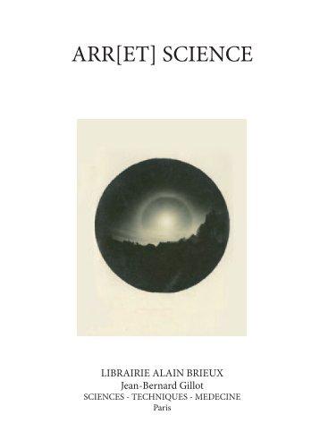 ARR[ET] SCIENCE - Librairie Alain Brieux