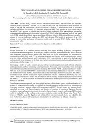 PROCESS SIMULATION MODEL FOR ANAEROBIC ... - BADA