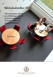 Boråsakademiker 2011 - BADA - Högskolan i Borås
